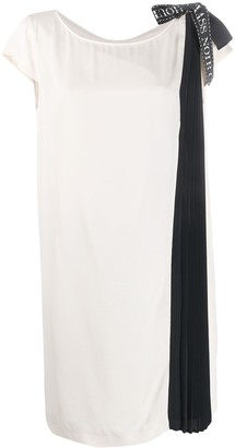 Class Roberto Cavalli Pleated Panel Midi Dress