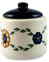 Hand Painted Floral Ceramic Sugar Bowl, 'Margarita'
