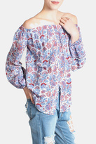 Paper Crane Paisley Off Shoulder Blouse