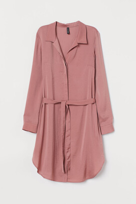 H&M Short Shirt Dress - Pink