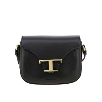 Tod's New T Small Bag In Genuine Leather With T Monogram