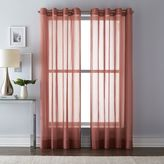 Wamsutta Mills Grommet Top Sheer Window Curtain Panel