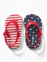 Old Navy Americana Stars & Stripes Flip-Flops for Baby
