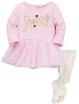 Juicy Couture French Terry Mesh Bottom Dress & Tight Set (Baby Girls)