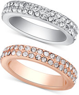 GUESS Two-Tone 2-Pc. Set Stackable Pavé Rings