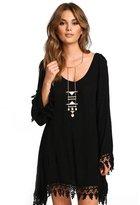 MENGDA Women's Chiffon Casual Plain Long Sleeve Simple T-shirt Loose Dress (XXXL)