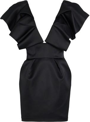 Alexandre Vauthier Ruffled Satin Mini Dress