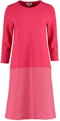 I'mdividual Organic Cotton Jersey Dress In Red Magenta Colour