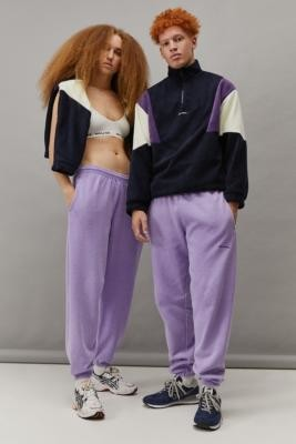 iets frans... Unisex Overdyed Purple Joggers - Purple M at Urban Outfitters