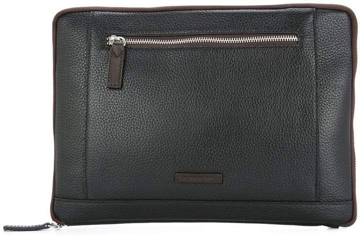 Cerruti zipped clutch