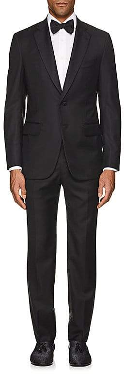 Isaia Men's Gregory Aquaspider Wool Two-Button Tuxedo