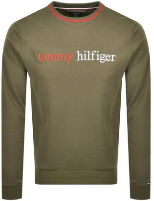 Tommy Hilfiger Loungewear Logo Sweatshirt Green