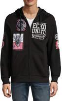 Ecko Unlimited Unltd Long Sleeve Fleece Patchwork Hoodie