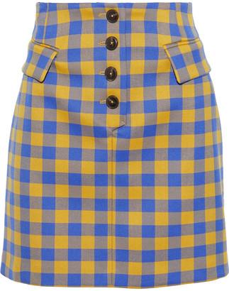 Baum und Pferdgarten Button-detailed Gingham Woven Mini Skirt
