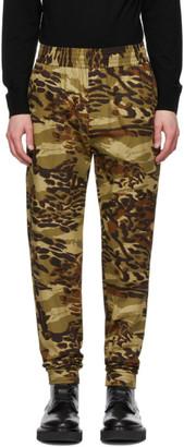 Givenchy Khaki Camouflage Jogger Lounge Pants