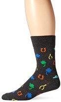 Happy Socks Men's 1 Pack Unisex Combed Cotton Crew-Lucky