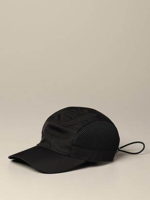 Prada Nylon And Mesh Hat With Logo