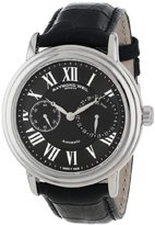 Raymond Weil Men's 2846-STC-00209 Maestro Stainless Steel Automatic Watch With Black Faux-Leather Band