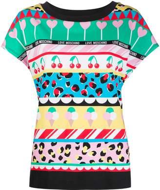 Love Moschino cherry ice cream print T-shirt
