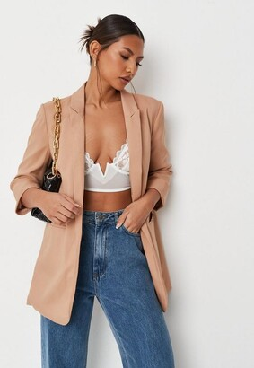 Missguided Camel Co Ord Basic Boyfriend Blazer