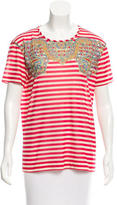 Carven Striped Short Sleeve T-Shirt