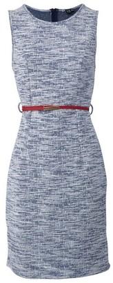 Dorothy Perkins Womens Izabel London Blue Tailored Shift Dress, Blue