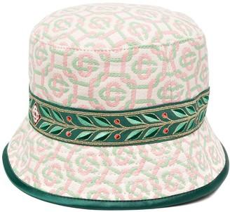 Casablanca Monogram Print Bucket Hat