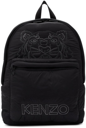 Kenzo Black Large Tiger Kampus Backpack