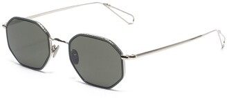 AHLEM Luxembourg Grey Gold/ Green Windsor Sunglasses