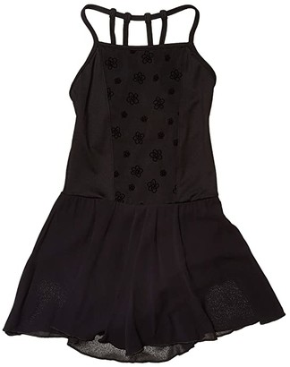 Bloch Open Back Skirted Camisole Leotard (Little Kids/Big Kids) (Black) Girl's Jumpsuit & Rompers One Piece