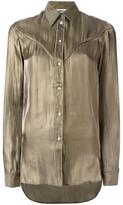MM6 MAISON MARGIELA cutaway collar shirt - women - Polyester - 40