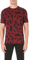 Armani Jeans Geometric-print jersey t-shirt