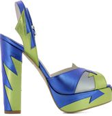 Terry De Havilland Blue Leather Sandals