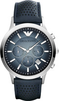 Emporio Armani AR2473 stainless steel leather strap watch