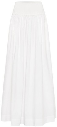 Esse Studios High Waisted A-Line Maxi Ribbed Waist Skirt