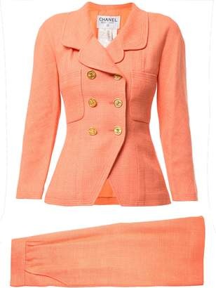 Chanel Pre-Owned fitted double-breasted skirt suit