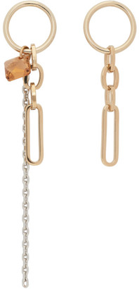 Justine Clenquet SSENSE Exclusive Gold Paloma Earrings