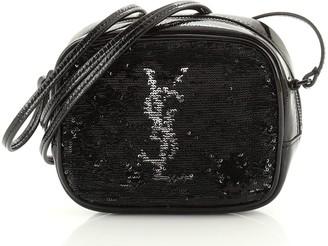 Saint Laurent Classic Monogram Blogger Crossbody Bag Sequins and Patent Leather Small