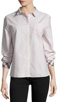 Burberry Long-Sleeve Oxford Shirt, Pink