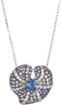 LeVian Suzy Sterling Silver Center Sapphire Heart Pendant Necklace