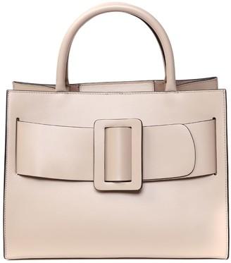 Boyy Bobby Ecru Leather Tote Bag