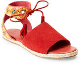 Sam Edelman Coral Shae Beaded Ankle Wrap Espadrille Sandals