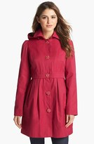 Betsey Johnson Raincoat with Detachable Hood & Liner (Online Only)