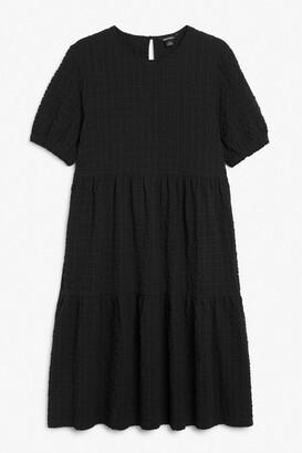 Monki Seersucker midi dress
