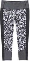 Joe Fresh Women's Print Contrast Active Legging, Black (Size M)