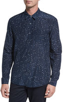 Vince Pencil Dot Sport Shirt, Navy