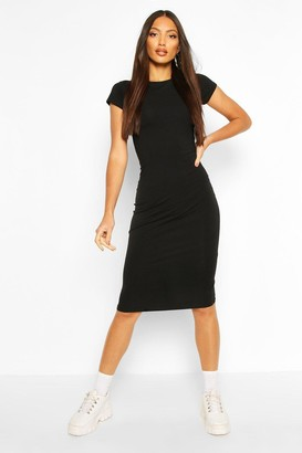 boohoo Cap Sleeve Bodycon Midi Dress