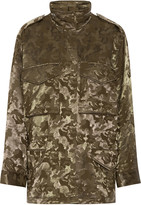 Alexander Wang Printed wool-blend cargo jacket