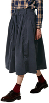Toast Cotton Twill Skirt, Blue/Black