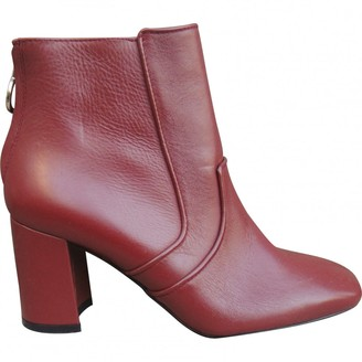 Claudie Pierlot Red Leather Ankle boots